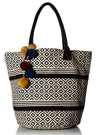 Twig & Arrow Tribal Shoulder Bag, black white