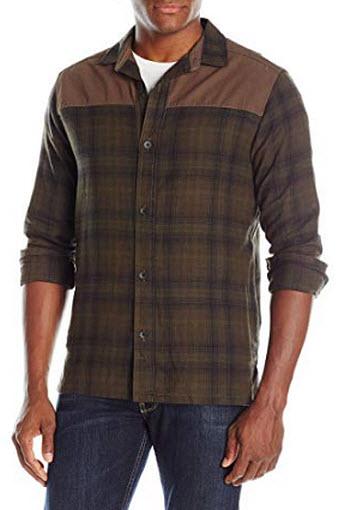 UNIONBAY Men's Flannel Shirt Jacket, foliage