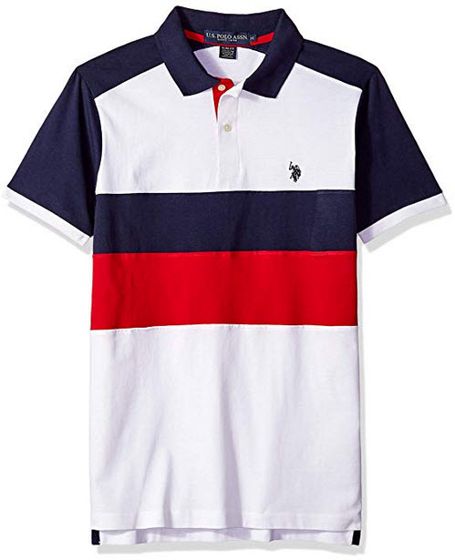 U.S. Polo Assn. Men's Short Sleeve Classic Fit Solid Jersey Polo Shirt white