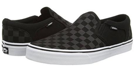 Vans Asher, Men's Low-Top Sneakers checkers black.