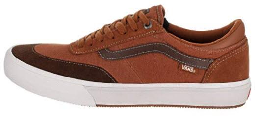 Vans Men's Gibert Crockett Skate Shoe leather Brown suede