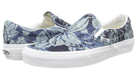 Vans Unisex Adults Classic Slip-On Low-Top Sneakers leaf pattern.