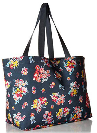 Vera Bradley Lighten Up Large Family Tote, tossed posies