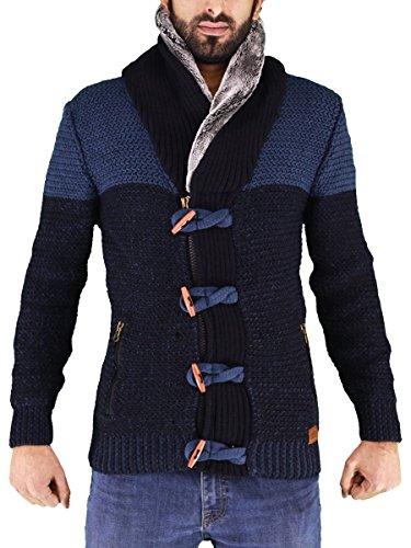 VERCINI Men's Fashion Open Front Long Sleeve Shawl Collar Pullover Cardigan – Slim F ...
