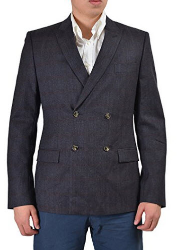 Versace Collection Men's Wool Double Breasted Sport Coat Blazer US 38 IT 48.