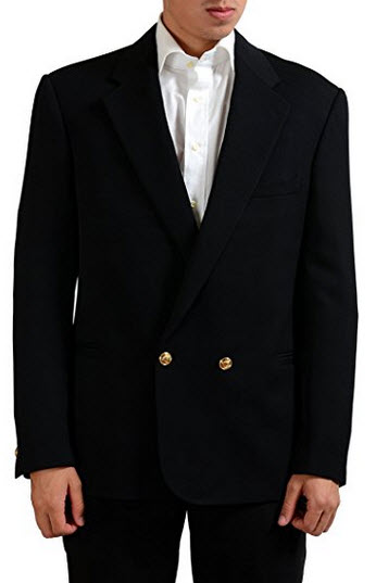 Versace Tailor Made 100% Wool Black Double Breasted Men's Blazer US 38 IT 48.