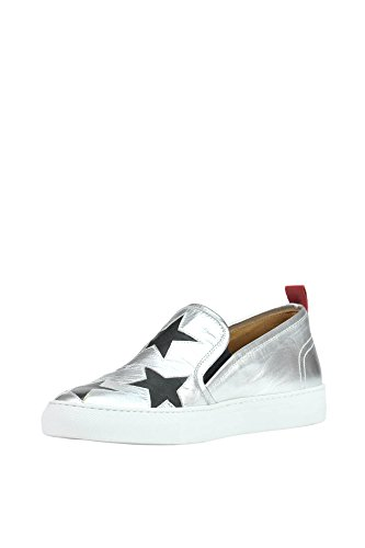 Via Roma 15 Women's MCGLCAK03051E Silver Leather Slip On Sneakers