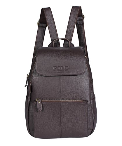 VIDENG POLO M520 Hot Style Fashion Women Real Genuine Leather Casual Daily Backpack Handbag