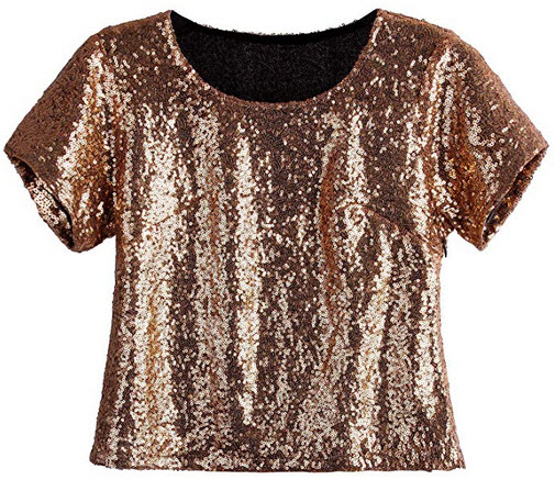 Vijiv Womens Glitter Glam Sequin Top Loose Sleeves Sparkly Shimmer Party Bridesmaid Sequined Tun ...