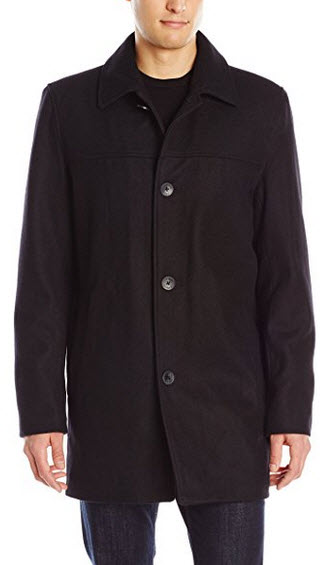 Vince Camuto Men's Wool-Blend Coat With Scarf.