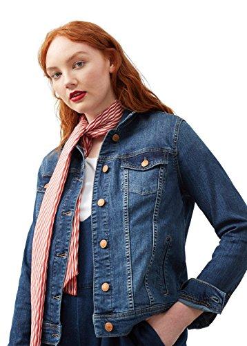 Violeta by MANGO Women's Plus Size Dark Wash Denim Jacket