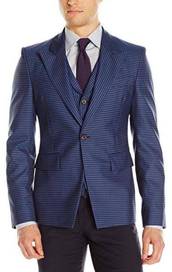 Vivienne Westwood Men's Horizontal StripeWaistcoat Jacket.