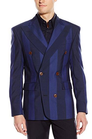 Vivienne Westwood Men's Moorish Stripe Double-Breasted Blazer