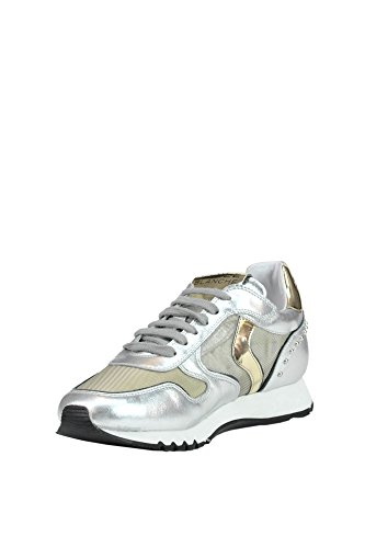 Voile Blanche Women's MCGLCAK03047E Silver Leather Sneakers