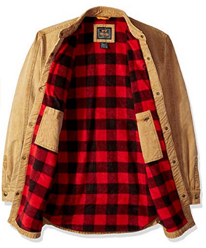 Walls Men's Bandera Vintage Duck Shirt Jacket Big-Tall, pecan