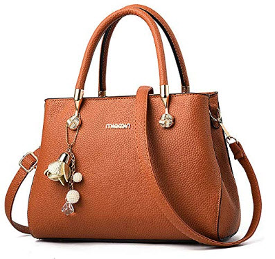 WangWang Women Top Handle Handbags Satchel Tote Purse Shouler Bags Messenger Bags For Ladies, brown