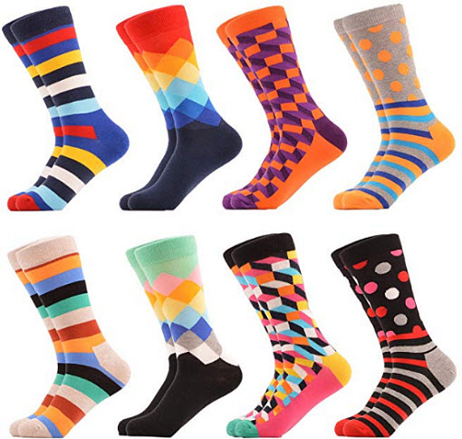 WeciBor Women's Funny Casual Combed Cotton Socks Pack 058-18