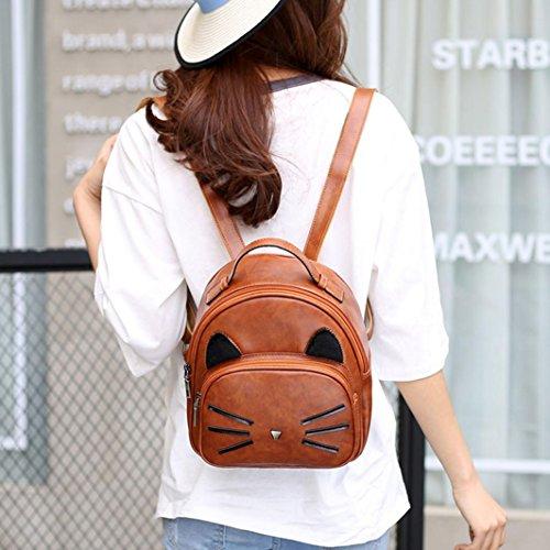 Wensltd Girls Womens Leather Mini School Bag Travel Backpack Rucksack Shoulders Bag