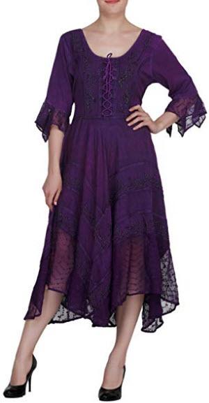 Wevez Summer Casual Beach Wear Sun Dress Gown for Women, violet
