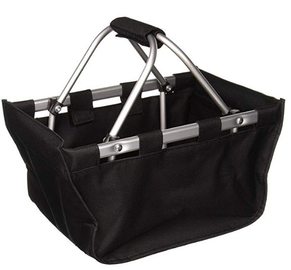 Wholesale Boutique Black Mini Market Tote, with Durable Removable Aluminum Frame