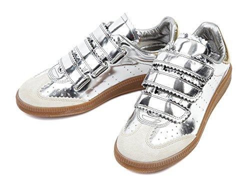 Wiberlux Isabel Marant Beth Women's Contrast Back Tab Hook-Loop Sneakers