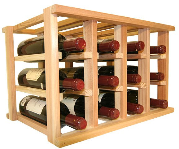 Wine Cellar Innovations Wooden Wine Rack – 12 Bottle Wine Rack – No Assembly Require ...