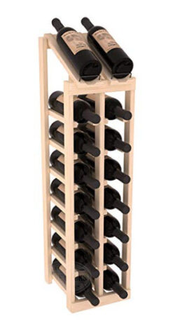 Wine Racks America Ponderosa Pine 2 Column 8 Row Display Top Kit. Unstained