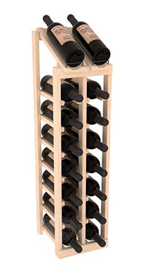 Wine Racks America Ponderosa Pine 2 Column 8 Row Display Top Kit. Unstained