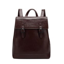 Women Leather Backpack Casual Travel School Bag Daypack with Large Capacity