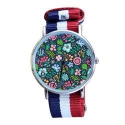 Women's Boho Floral Casual Watch Fashion Canvas Analog Wrist Watches by SINGDADFF