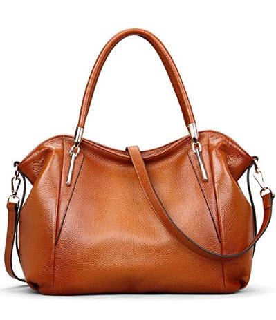 Womens Genuine Leather Handbags Vintage Tote Shoulder Bags for Ladies DAIZU Cowhide Large Purse