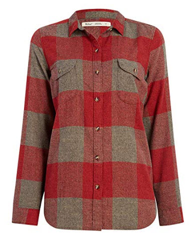 Woolrich Womens Twisted Rich Flannel Shirt Ii – Organic Cotton Tamarind Check