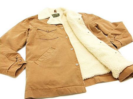 Wrangler Sherpa Lined Duck Jacket WM1770 Men's Ranch Coat Brown (X-Large) .