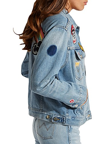 Wrangler Women's Retro Women's Light Blue Denim Jacket 100% Cotton