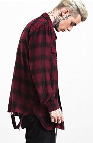 WSPLYSPJY Men's Fashion Flannel Long Sleeve Plaid Button Down Western Shirts