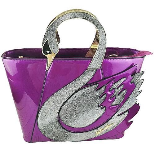 Yan Show Women's Patent Leather Elegant Handbag Stylish Shoulder Bag Totes Travel Bag Elegant sw ...