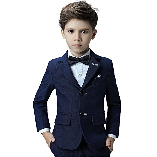 Yanlu Formal Slim Fit Wool Look Boys Suits With Bowtie For Weddings
