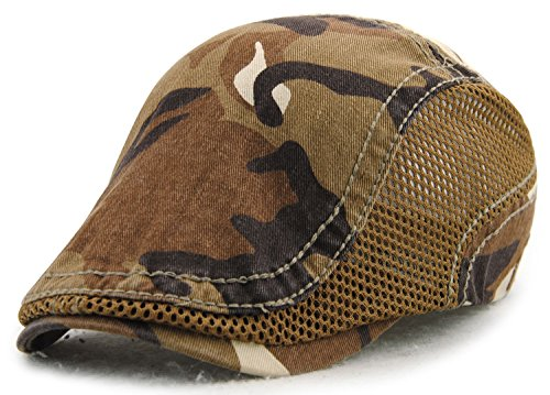 YCHY Cotton Flat Cap Duckbill Hat Newsboy Ivy Irish Cabbie Scally Cap