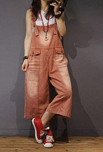 YESNO P89 Women Casual Loose Overalls Floral Jumpsuits Button-Up Tops Low Crotch Pockets, pdf coffee