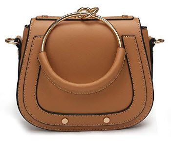 Yoome Small Purse Vintage Satchel for Women PU Leather Cover Hasp Crossbody Saddle Shoulder Bag  ...