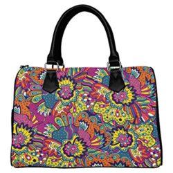 your-fantasia Floral Doodle Style Boston Bag Handbag