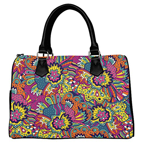 your-fantasia Floral Doodle Style Boston Bag Handbag