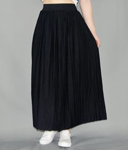 YSJ Women's Pleated Modal Long Skirt A-Line Swing Skirts Solid Color