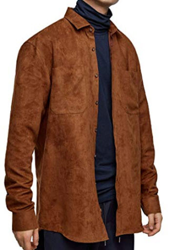 Zara Men Faux Suede Overshirt