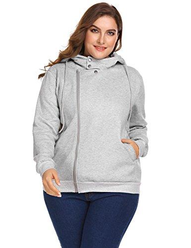 Zeagoo Womens Plus Size Long Sleeve Sweater Hoodie Pullover Sweatshirt