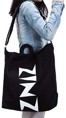 Zinz Hobo Bag Canvas Tote Shoulder Bag Reusable Shopping Bag for Shopping, Travel, Commute and L ...