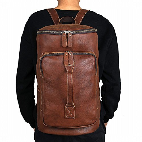ZM Multifunctional Crazy Horse Leather Travel Bag Tote Backpack